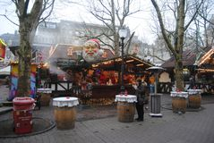 Luxembourg City, Luxembourg – December, 2013. Christmas market in Luxembourg City. Christmas market in Luxembourg City Royalty Free Stock Photo