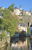 Luxembourg City,Luxembourg-Grund Royalty Free Stock Photo