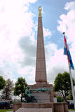 Luxembourg city, Luxembourg - July 28, 2011 : Statue of Gelle Fra royalty free stock photo