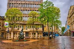 LUXEMBOURG CITY, LUXEMBOURG - JUN 2013: Street and square with a Royalty Free Stock Images