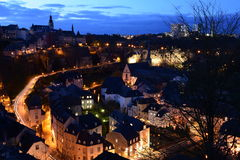 Luxembourg city by night Royalty Free Stock Image