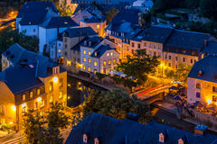 Luxembourg City night Stock Images