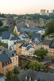 Luxembourg City night. Luxembourg City sunset top view in Luxembourg Royalty Free Stock Photography