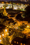 Luxembourg City night Stock Photography
