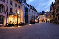 Luxembourg city night view Royalty Free Stock Photography