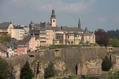 Luxembourg City. Old Part of Luxembourg City Stock Images