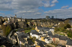 Luxembourg City Old Town Royalty Free Stock Images