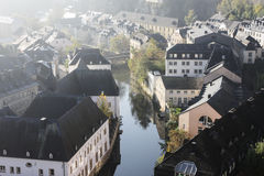 Luxembourg city panorama. Early morning Luxembourg city panorama Royalty Free Stock Photo