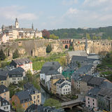Luxembourg City Panorama. Old Part of Luxembourg City Stock Photos