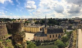 Luxembourg. City, panoramic view of the Grund Stock Images