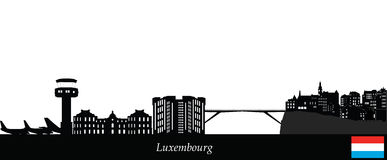 Luxembourg city skyline. With airport Royalty Free Stock Photos