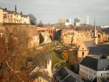 Luxembourg City View. A majestic view over Luxembourg City and surroundings stock images