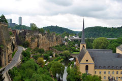 Luxembourg city Royalty Free Stock Photos