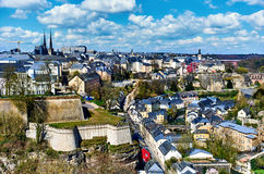 Luxembourg cityscape Stock Image