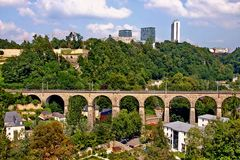 Luxembourg. Clausen Viaduct Royalty Free Stock Photography