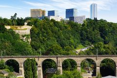 Luxembourg Clausen Viaduct. Royalty Free Stock Images