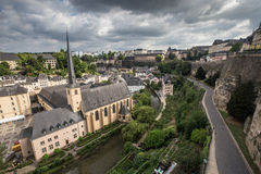 Luxembourg in cloudy day Royalty Free Stock Photos