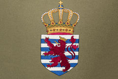 Luxembourg Coat of Arms. Embroidery of Luxembourg Coat of Arms with format available stock photography
