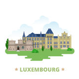 Luxembourg country design template Flat cartoon st Royalty Free Stock Images