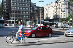 Luxembourg. Cyclist. Stock Images