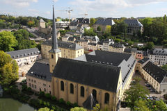 Luxembourg downtown Stock Photography