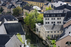Luxembourg downtown Royalty Free Stock Photos