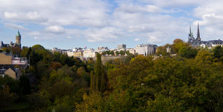 The Luxembourg downtown Royalty Free Stock Photography