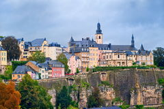 Luxembourg downtown. View of old upper part of Luxembourg city royalty free stock image
