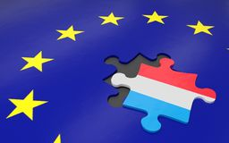 Luxembourg and EU Stock Image