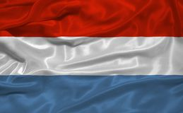 Luxembourg Flag 3 Royalty Free Stock Photos