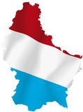 Luxembourg flag. Vector illustration of a map and flag from Luxembourg Royalty Free Stock Image