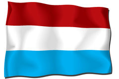 Luxembourg Flag. Flag of Luxembourg waving in the wind Vector Illustration
