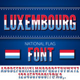 Luxembourg Flag Font Stock Photography