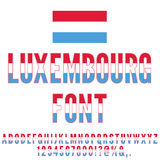 Luxembourg Flag Font Stock Images
