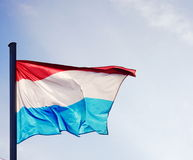 Luxembourg flag in a good light Royalty Free Stock Image
