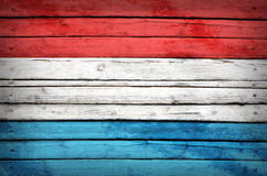 Luxembourg flag painted on wooden boards Stock Image