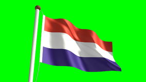 Luxembourg flag stock video footage