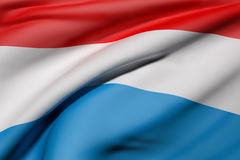 Luxembourg flag waving Stock Photography