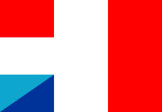 Luxembourg france flag Stock Photo