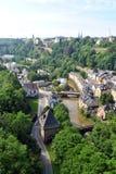 Luxembourg gammal stad arkivfoto