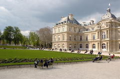 Luxembourg garden. (Paris) in sunny day royalty free stock images