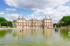 Luxembourg garden stock photo