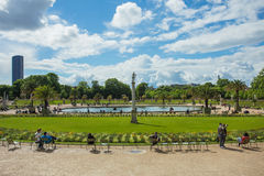Luxembourg Garden(Jardin du Luxembourg) in Paris, France.  royalty free stock images