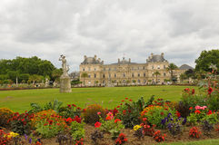 Luxembourg Garden (Jardin du Luxembourg) in Paris, France. Panorama of the beautiful Gardens of Luxembourg in Paris, France in summer Royalty Free Stock Photos