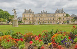 Luxembourg Garden(Jardin du Luxembourg) in Paris, France. Panorama of the beautiful Gardens of Luxembourg in Paris, France in summer Royalty Free Stock Photos
