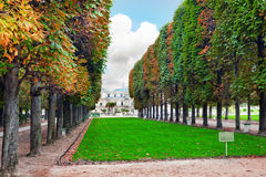 Luxembourg Garden. (Jardin du Luxembourg) in Paris, France royalty free stock photography