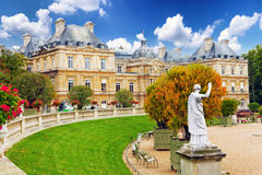 Luxembourg Garden. (Jardin du Luxembourg) in Paris, France royalty free stock image