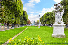 Luxembourg Garden. (Jardin du Luxembourg) in Paris, France stock photography