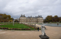 The Luxembourg garden and the Luxembourg palace Stock Image