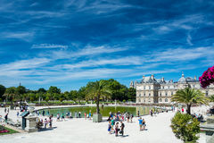 The Luxembourg Garden and the Luxembourg Palace royalty free stock photos